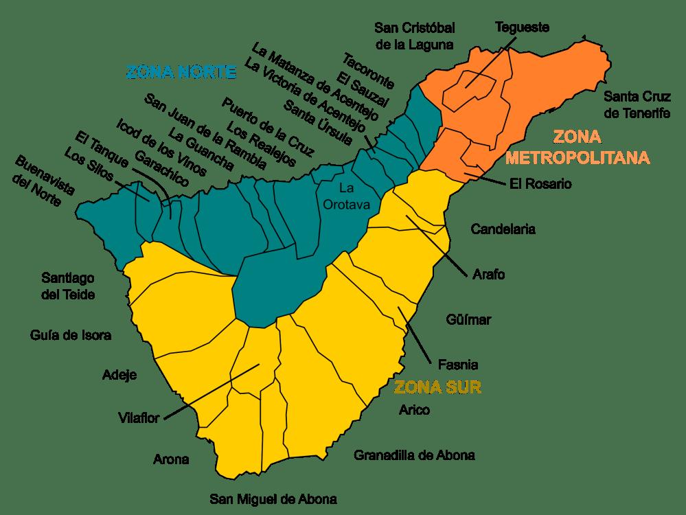 Mapa De Tenerife Municipios.Municipios Lugares De Tenerife